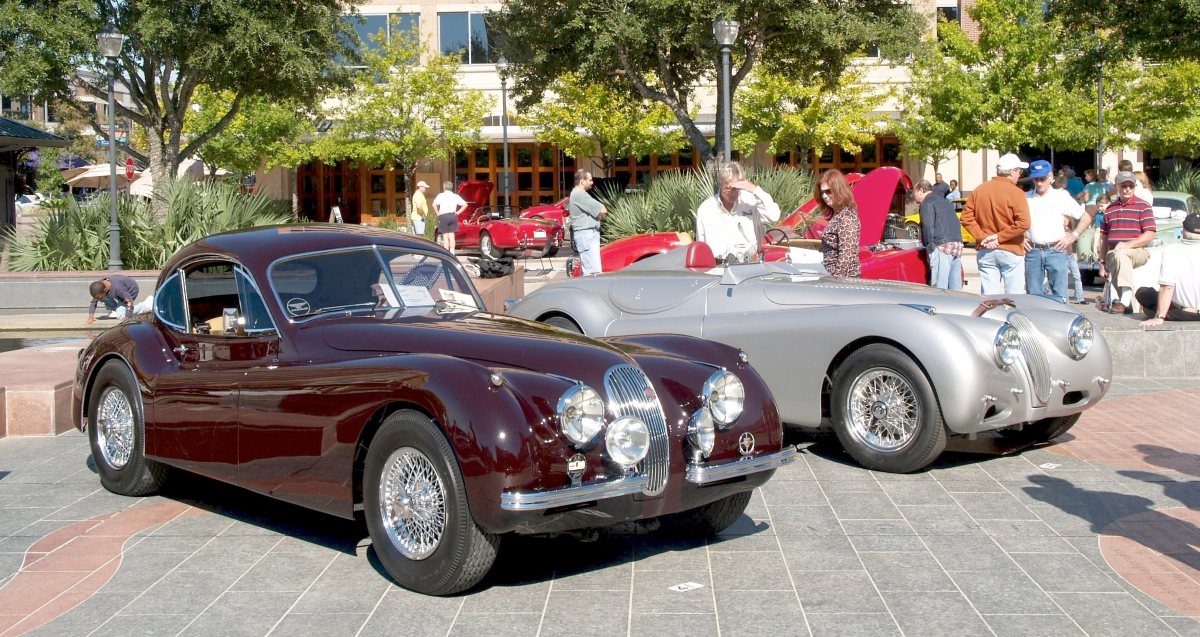 XK 120 at concours